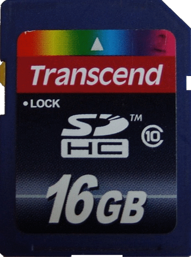 SD Card Transcend SDHC Class 10